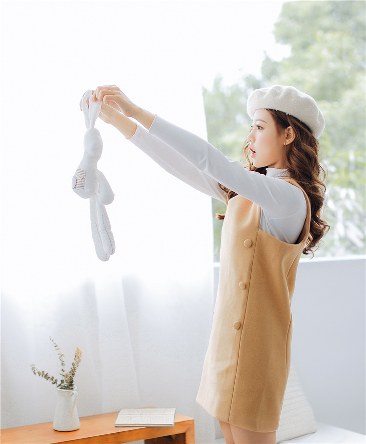 [55555SHOP]スクエアフォルムロングニットワンピース 韓国ファッション ニット ニットワンピース ワンピース 秋冬 ワンピース 韓国