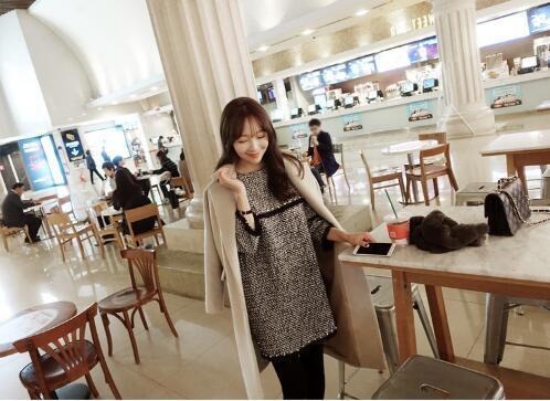 [55555SHOP]ワンピース ニットワンピース チェックワンピース ワンピース シンプルワンピース 冬ワンピース 卒業式 入学式 韓国ファッション