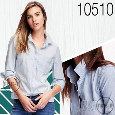 Classic Chambray Shirt One Pocket-Light Washed