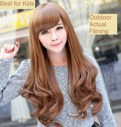 korean long hair style qoo10 fasion curl wig fashion accessories 4101 | 452132000.g 400 w st g