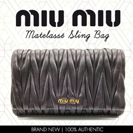 e759617ae1f7 Miu Miu Matelassé Sling Bag - 100% Lamb Leather. 100% Authentic  Trusted