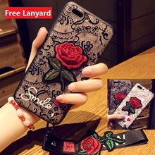 Redmi 5、5A、5 Plus、Note 5A Lace Embroidery rose case cover