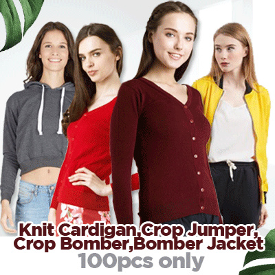 [Cartexblanche] PROMO BUY 1 GET 1 CARDIGAN / CROP JUMPER / CROP BOMBER / BOMBER JACKET Deals for only Rp150.000 instead of Rp150.000