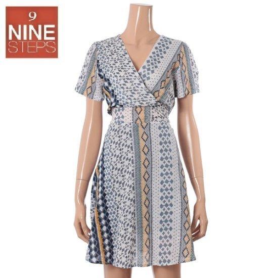 ナインステップVネクレトゥロレプOPSN17NK7228R 面ワンピース/ 韓国ファッション