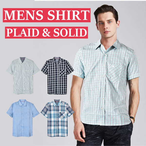 [ New Collection ] Mens Shirt Mustang | Kemeja Mustang | Mens Hummel short sleeve_Best price ever Deals for only Rp99.900 instead of Rp142.714