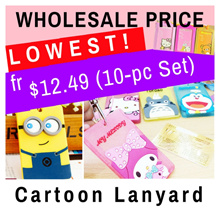 10pcs Wholesale Cartoon Lanyard/ Card Holder/ID Holder/ Key Chain/ Name tag/ Children Party Gift