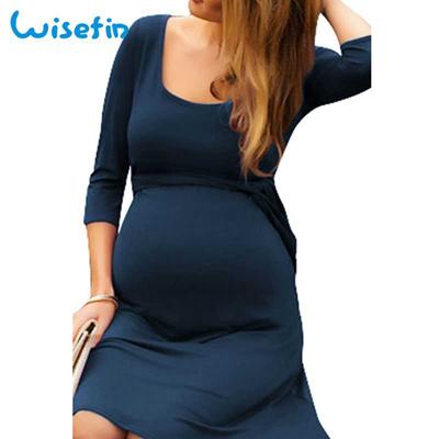 e4382f572c633 Qoo10 - wholesale Wisefin Woman Maternity Nursing Mini Dress Casual ...