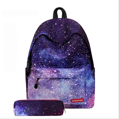 2628d5bbd0 Galaxy School Bag Girl Boy Travel Rucksack Laptop Bookbag Shoulder Backpacks  Unisex Collection Canva