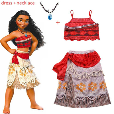 93d2f47528 outlet 2019 bohemian Summer Moana Dress cosplay Girls Clothes Moana Kids  Dresses Party girl Vaiana C