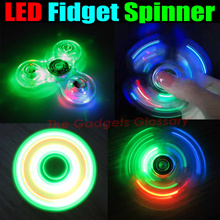 CHRISTMAS GIFT LOT OF 50 X  LED SPINNER FIDGETS SWITCH CONTROL 3 MODES