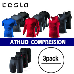 TESLA 2 in 1 / 3 in 1 Compression wear / Short&Long Pants / Tshirts / inner wear/ Dry fit / Fitness