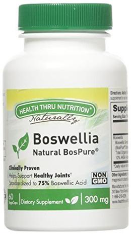 Health Thru Nutrition Boswellia Bospure Non-GMO 300Mg Vege-Capsules, 60 Count