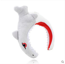 Shark headband hair band Korean cute crocodile headdress dinosaur headband net red female hairpin female face Halloween