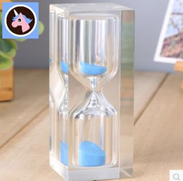 Children timer three minutes brushing time 3/10/15 hourglass crystal plastic drop resistance creativ
