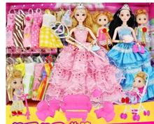 Dress Up Barbie Doll Set Gift Box Female Dolls Home Wedding Dresses Childrens Toys Villa Castle