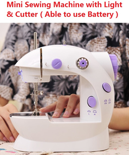 Mini Sewing Machine with Light and cutter able to use battery