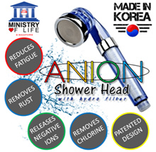 ♥ SHIOK SHOWER ♥  SPA Anion Filter Shower Head [HIGH QUALITY] ♥ Good for Skin ♥ Beauty ♥ Save Water