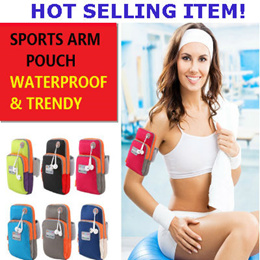 Sports Armband/Arm Pouch/Jogging Pouch for Outdoor Activities/Lightweight/Waterproof