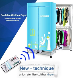 Finether Electric Clothes Dryer Portable Wardrobe Machine drying Camping RV Dorm Apartment Folding E