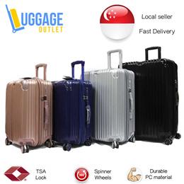 ★Zipper vs Aluminium!★Hardcase 8 Wheel Spinner Expandable Polycarbonate Luggage Trolley Case TSA loc