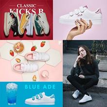 [FILA] 100% Authentic FILA Original 20Type Womens COURT DELUXE Canvas Velcro Sneakers