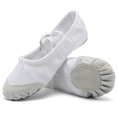 9805f899b05d3 CIOR Ballet Slippers For Girls Classic Split-Sole Canvas Dance Gymnastics  Yoga Shoes Flats(Toddler/L