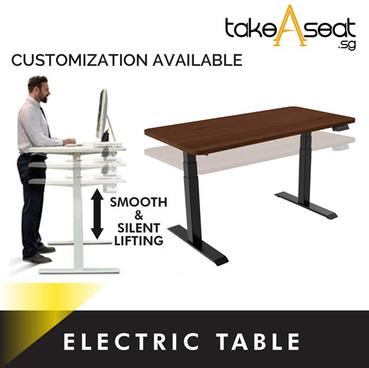 [S$599.00](▼7%)[Takeaseat]Electric Standing Desk ★ Height Adjustable Stand Desk ★ Ergonomic Desk ★ Home/Office Use ★ Stable