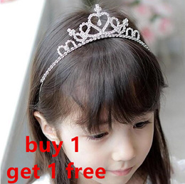 From $1.8 /singapore store/baby/Girls hair accessories/princess garland/crown hairband/clip/rabber band