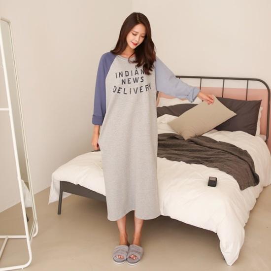 ピンクシスレーインディアチュリロングワンピース 綿ワンピース/ 韓国ファッション