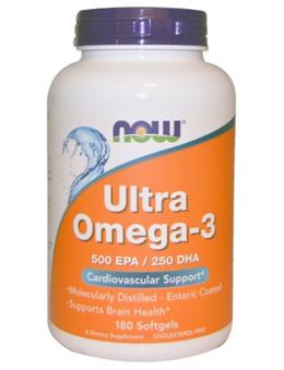 Now Foods Ultra Omega-3 500 EPA/250 DHA 180 Softgels