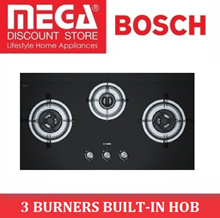BOSCH PBD9331SG 92CM BLACK TEMPERED GLASS GAS HOB / ELECTRIC IGNITION / LOCAL WARRANTY