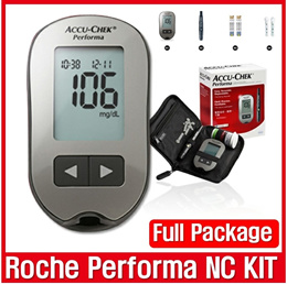 [Roche] _  Accu Chek Performa / NC Kit  /  Full Package / Device + Softclix + test Strips +