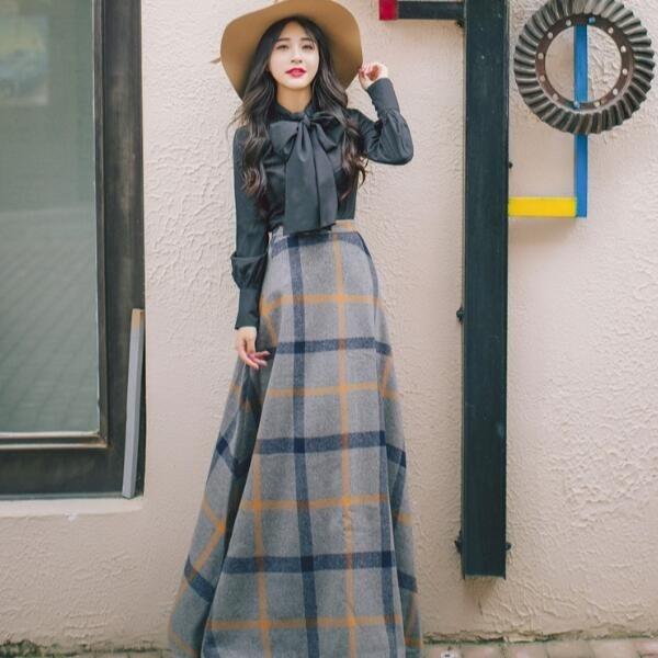 韓国ファッション 2点セットラシャスカート冬シーズン /ワンピース/セーター/Vネック/着痩せリブスリット  レディース トップスパーティー 結婚式ワンピース 秋冬暖かい ロング丈 高級感があ