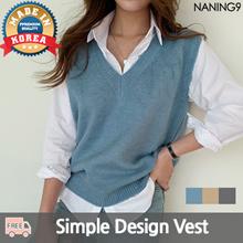 ★ Korea Fashion Business No.1 Naning9 ★ Free Shipping ♥ 2019 S / S NEW! Best / Charlotte knit vest