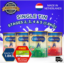 Enfamil / Enfagrow A+ OFFICIAL Stage 2/3/4/5 - Baby Milk Powder 1.8kg + FREE $5 Capitaland Voucher