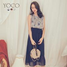 YOCO - Floral Printed Ribbon Dress-180085-Winter