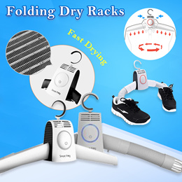 Smart Frog Mini Portable Folding Dry Racks Fast Drying Hanger with Heater Hot and Cold Wind Adjusta
