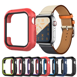 Protective cases cover For Apple watch 4 Case 44MM 40MM iwatch band series 4 Replacement Silicone