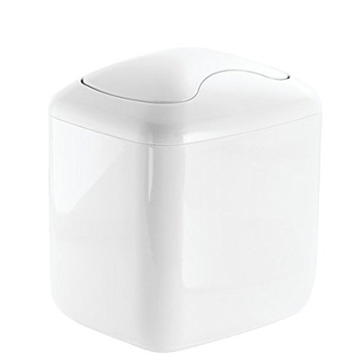 Mdesign Baby Nursery Changing Table Wastebasket Trash Can With Swing Lid 2 8 Quart
