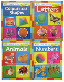 Children activity book sticker book goodie bag educational book abc numbers animal color and shapes