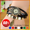 Premium Korean Style Quality Leather Bracelet Classic Watch