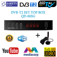 FullHD 1080P DVB-T2 Digital TV Box/ Set Top Box With Antenna/ Tuner/ Receiver