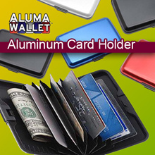 Aluma Wallet / Aluminum Card Holder / Name Card Holder /  Credit Card Holder/Organizer As Seen OnTV