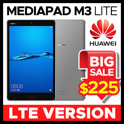 Huawei★Lowest Price ever★[NEW] Huawei MediaPad M3 Lite Tablet LTE Version  CPN-L09 32GB / 3GB / 8 Inch (White / Space Grey)