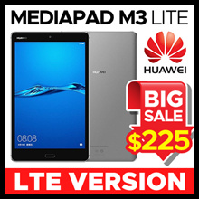 ★Lowest Price ever★[NEW] Huawei MediaPad M3 Lite Tablet LTE Version CPN-L09 32GB / 3GB / 8 Inch (White / Space Grey)