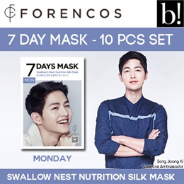 Forencos 7 Days Mask Monday Swallows Nest Nutrition Silk Mask (1 Sheet) .84fl.oz/24.8ml True Rock Mens Biker Slim Fit Casual Jogger Pants