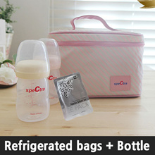 [Spectra] Refrigerated bags + 160ml Baby bottle set / cooler baby bottle bag with ice pack