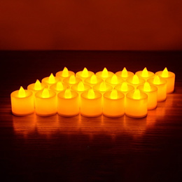 24pcs/lot Flickering Tea Light Include Battery Remote Control LED Candle Bougie Velas Electric Chand