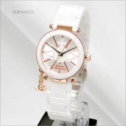 ヴィヴィアン ウエストウッド VV067RSWH VIVIENNE WESTWOOD セラミック 腕時計 (ST) (長期保証3年付)