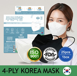 KOREA HIT BLUEWIND MASK / Box Package 25pcs 1Box / 4Ply Made In Korea Surgicla Mask / Bird beak Type